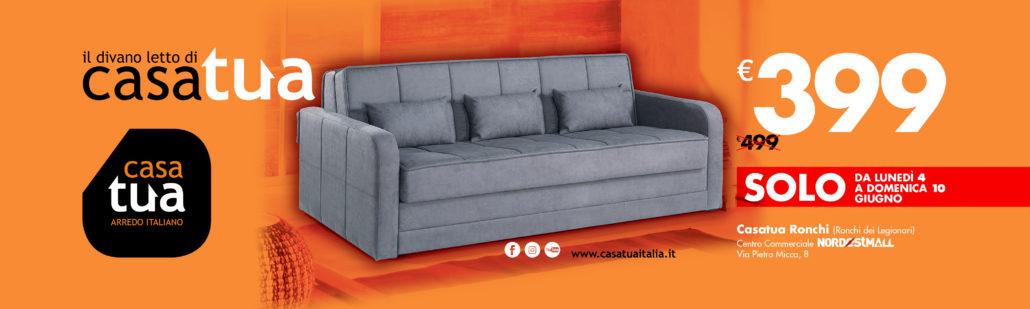 Casatua divano letto 3 posti a 399 euro nord est mall - Divano letto 100 euro ...